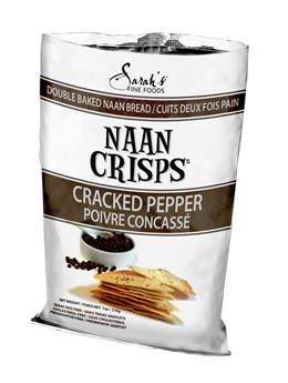 Cracked Pepper Naan Crisps
